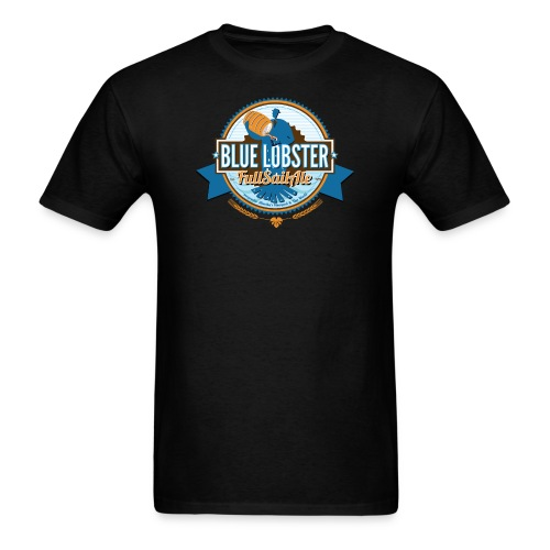 lobstermanbeer3 final f bluering - Men's T-Shirt