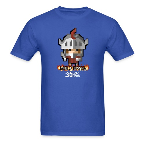 Knight ME v EVIL (White logo) - Men's T-Shirt