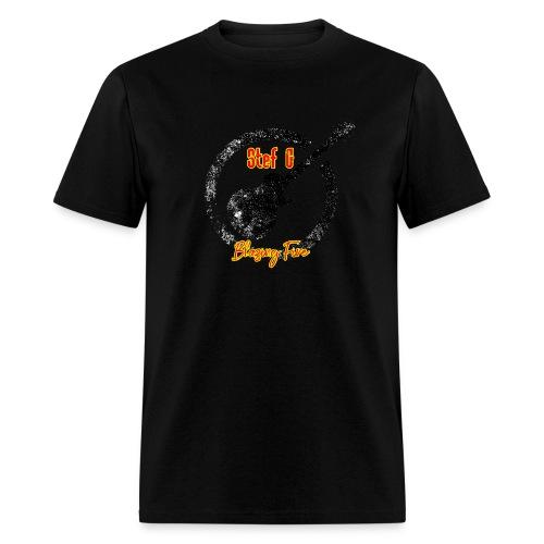Stef G - Blazing Fire Design 1 - Men's T-Shirt