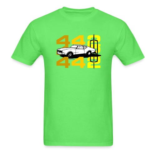 auto_oldsmobile_442_002a - Men's T-Shirt