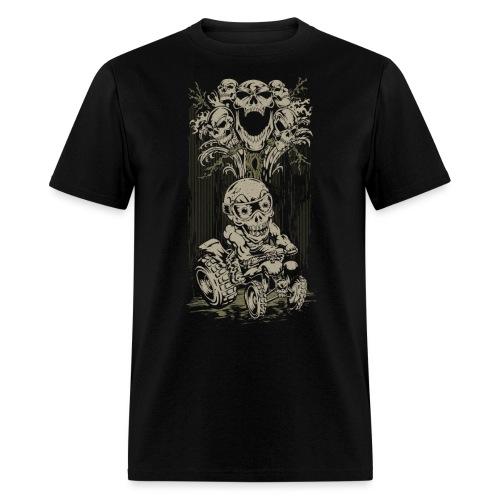 ATV Skully Skull Tree - Men's T-Shirt
