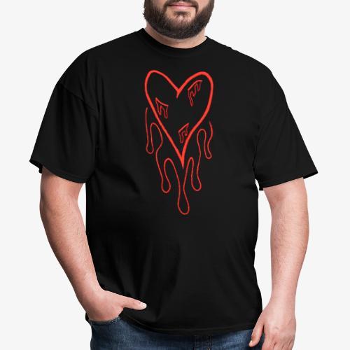 bleeding heart - Men's T-Shirt