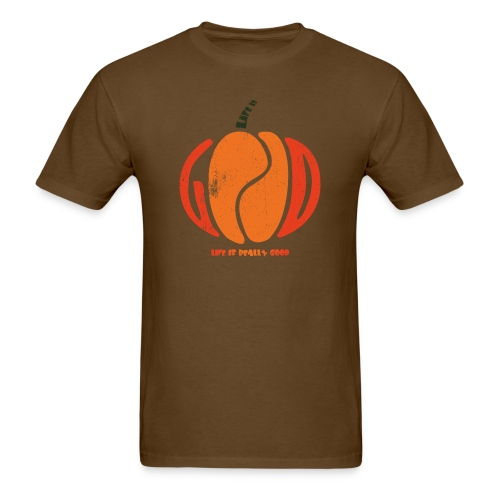 Life Is Really Good Pumpkin - Men's T-Shirt