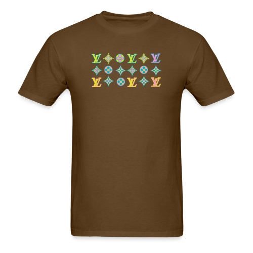 custom coloured LV pattern. - Men's T-Shirt