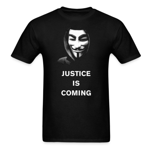 justice is coming large gif - Men's T-Shirt