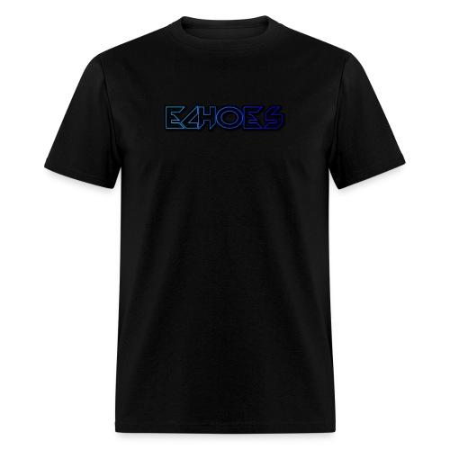ECHO™Original Blue Logo T-Shirt Black - Men's T-Shirt