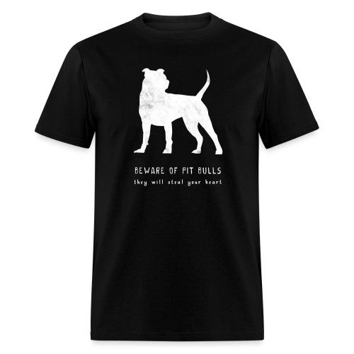 pitbull steal white png - Men's T-Shirt