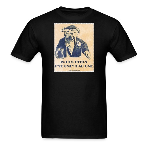 Vintage In Dog Years I've Only Had One - Men's T-Shirt