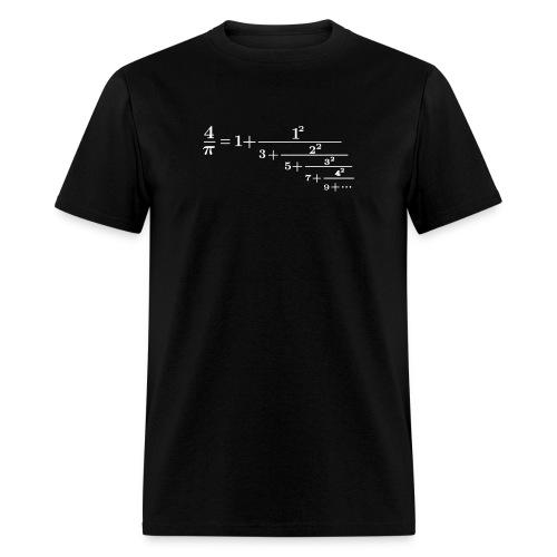 pi continued fraction - Men's T-Shirt