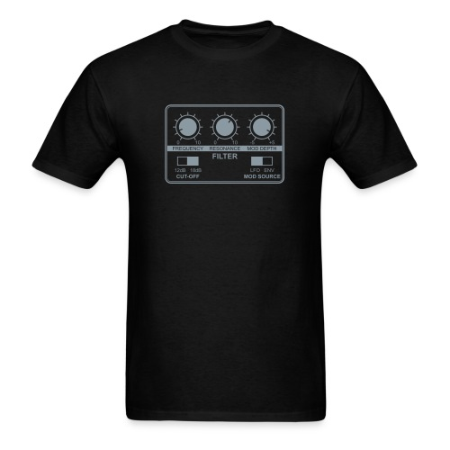 Synth Filter with Knobs - Men's T-Shirt