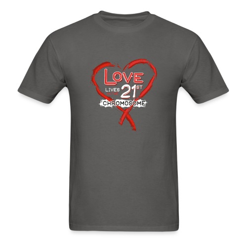 Down Syndrome Love (Red/White) - Men's T-Shirt