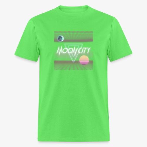 Moon City Retrogrid - Men's T-Shirt