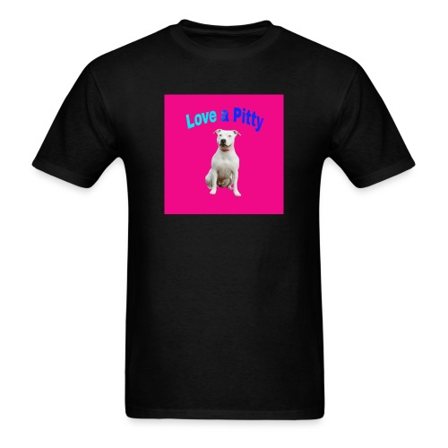 Pink Pit Bull - Men's T-Shirt