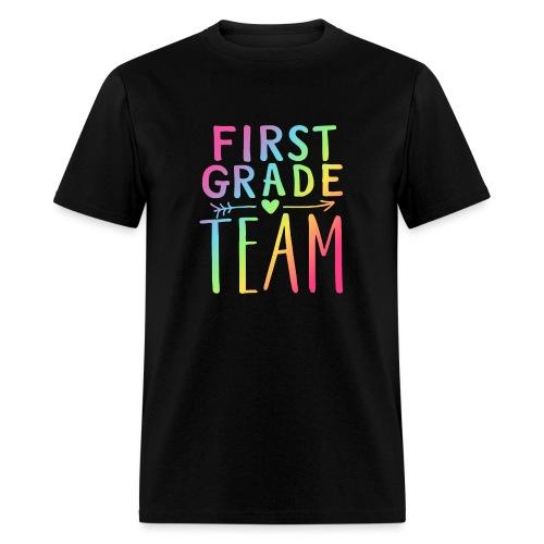 First Grade Team Neon Rainbow Teacher T-Shirts - Men's T-Shirt