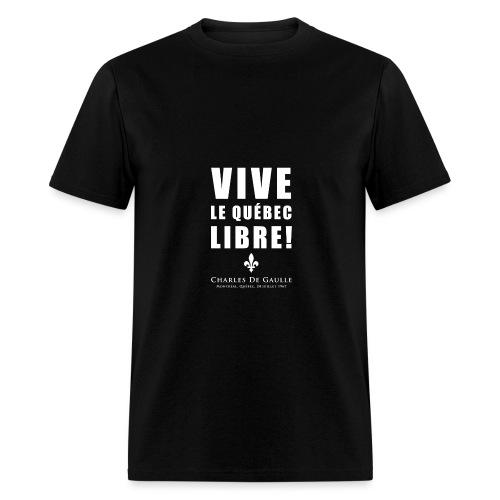 Vive le Québec libre! - T-shirt pour hommes
