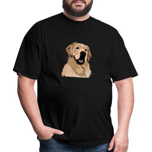 Hand illustrated golden retriever print / goldie - Men's T-Shirt