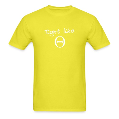 tight like theta white - Men's T-Shirt
