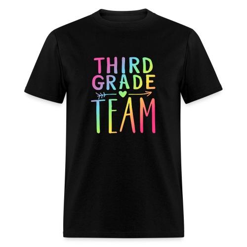 Third Grade Team Neon Rainbow Teacher T-Shirts - Men's T-Shirt