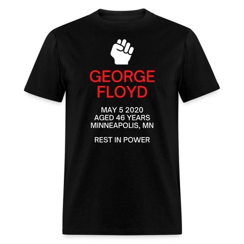 George Floyd Memorial(white & red version) - Men's T-Shirt
