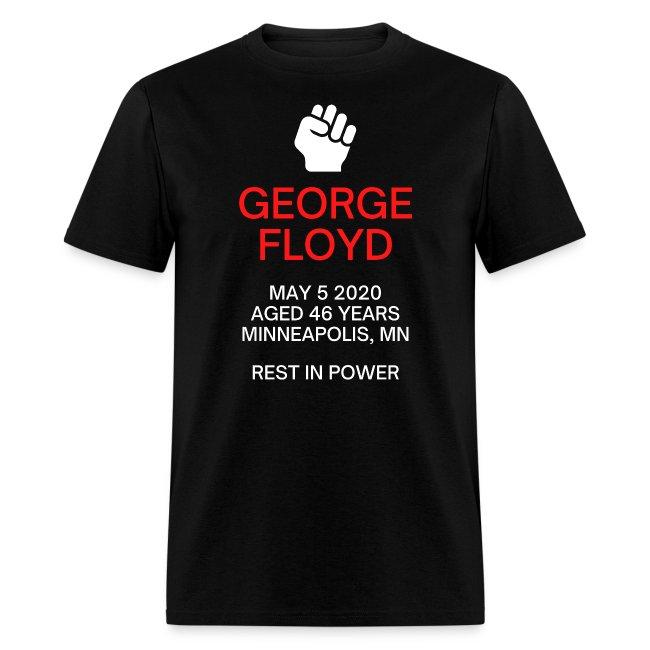George Floyd Memorial(white & red version)