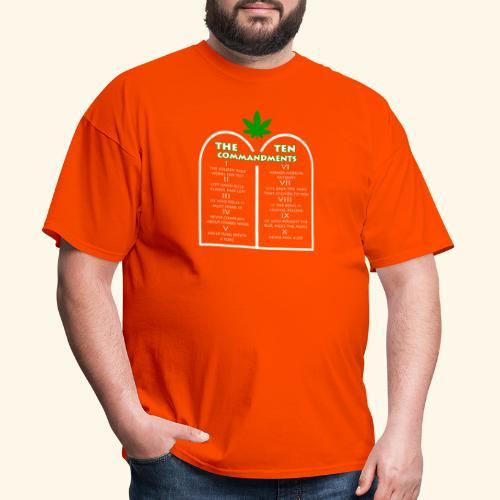 The Ten Commandments of cannabis - Men's T-Shirt
