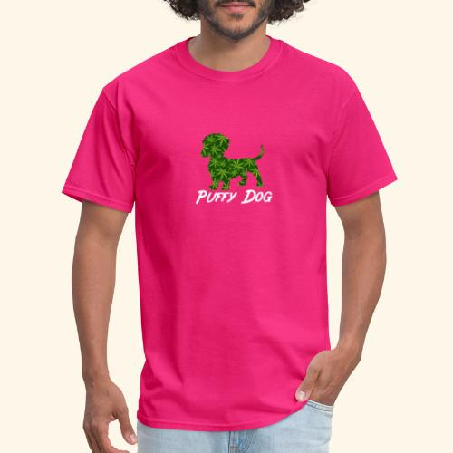 PUFFY DOG - PRESENT FOR SMOKING DOGLOVER - Men's T-Shirt