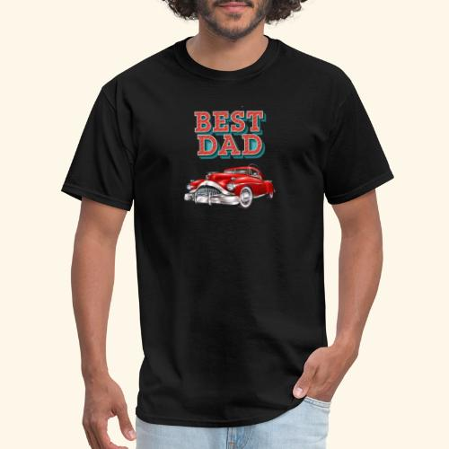 Best Dad Classic Car Design Fathers Day - Men's T-Shirt