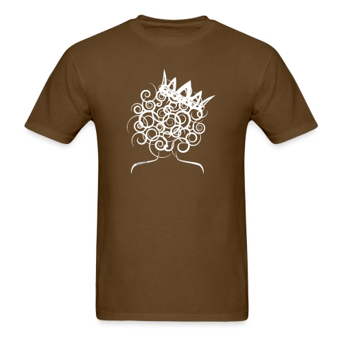 Curly Queen with Crown_ GlobalCouture Women's T-Sh - Men's T-Shirt
