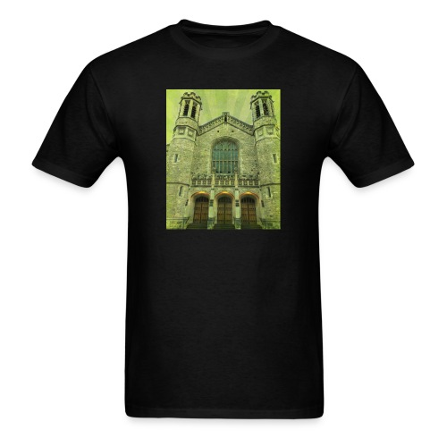 Green gothic cathedral - Men's T-Shirt