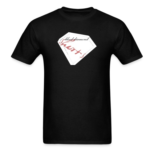 Blood Diamond -white logo - Men's T-Shirt