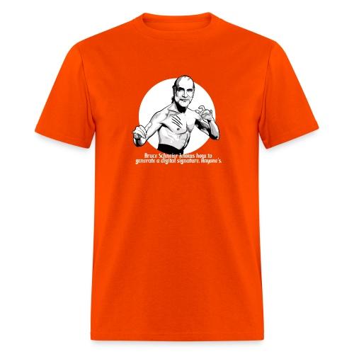 schneier8 martial white - Men's T-Shirt
