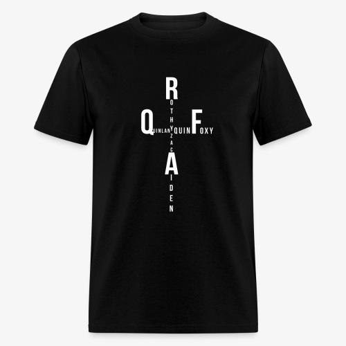 Rothy Quinlan foxy Aiden Zac quin logo - Men's T-Shirt