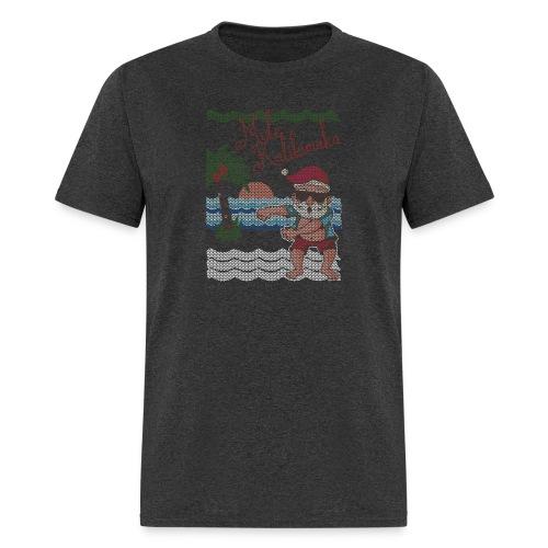 Ugly Christmas Sweater Hawaiian Dancing Santa - Men's T-Shirt