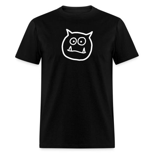 grumomedia logo white trans bg png - Men's T-Shirt