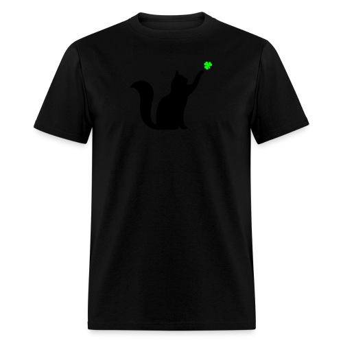 Cat and Shamrock - Men's T-Shirt