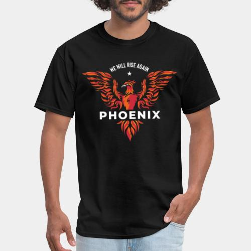 phoenix bird born reborn - Men's T-Shirt