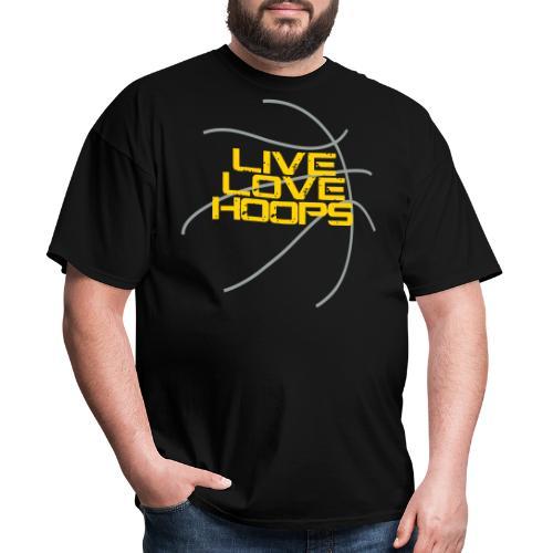 Live Love Hoops Basketball - Men's T-Shirt