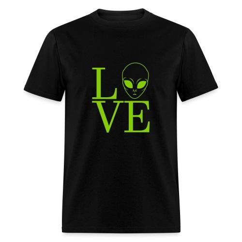LOVE ALIEN - Men's T-Shirt