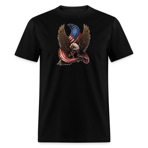 Bald Eagle American Flag - Men's T-Shirt