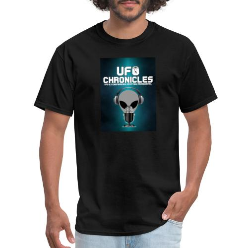 UFO Chronicles Logo with Grey Mike - Men's T-Shirt