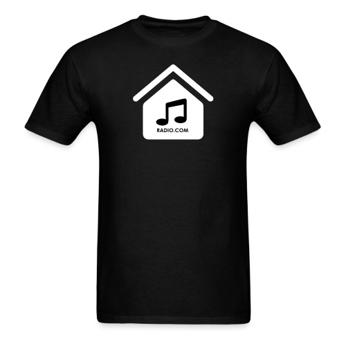 House Music Radio White black font no out line.png - Men's T-Shirt