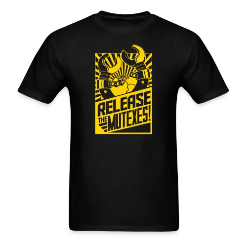 Release the Mutexes Negative - Men's T-Shirt
