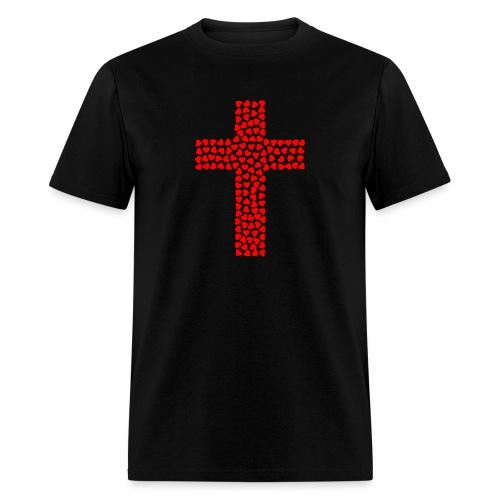 Jesus Love heart cross - Men's T-Shirt
