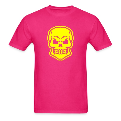 Skull vector yellow - Men's T-Shirt