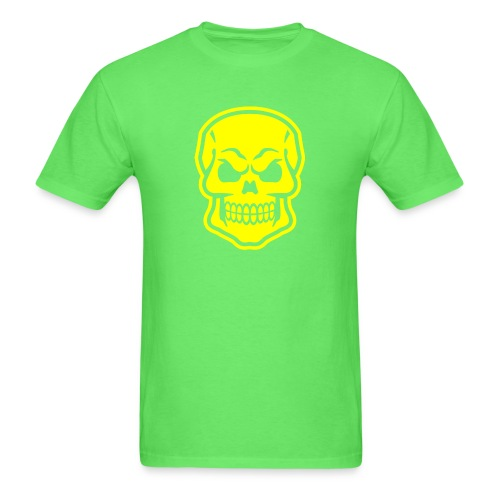 Skull vector yellow - Men's T-Shirt