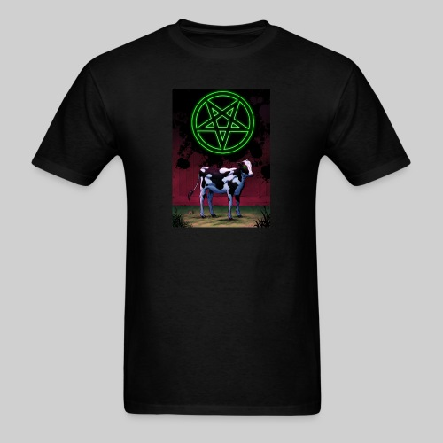 Satanic Cow - Men's T-Shirt