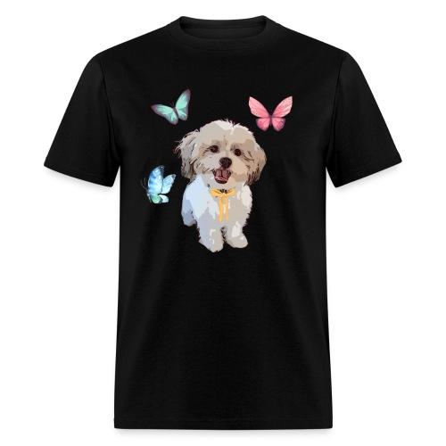 Shih Tzu Butterflies design - Men's T-Shirt