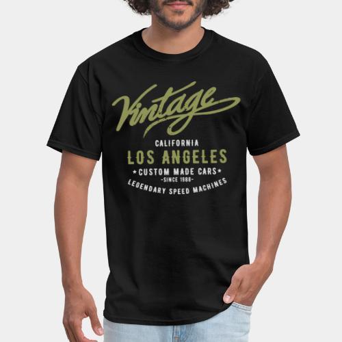 vintage retro los angeles - Men's T-Shirt