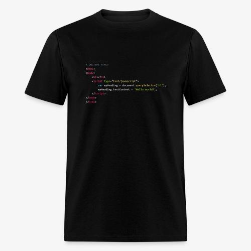 Hello World - JavaScript - Men's T-Shirt