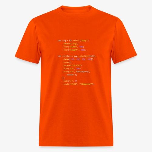 d3.js program - Men's T-Shirt